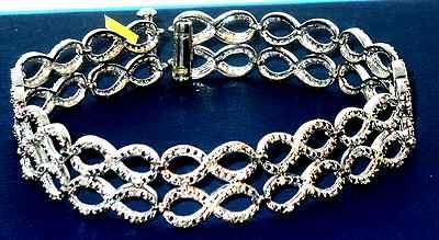 "Genuine DIAMOND LOVE INFINITY Design Bracelet 7.5"" longcheck out Genuine DIAMOND LOVE INFINITY Design Bracelet 7.5"" long  @eBay. #Jewelry #Bracelets #Blackfriday http://r.ebay.com/aNmJVB"