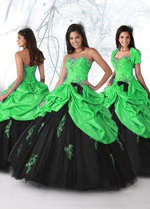 Green Quinceanera Dresses,2012 Brand new Ball gown Strapless Floor-length Quinceanera Dresses Style 80095,discount designer quinceanera ball gowns,Style: 80095  Fabric: Taffeta+Tulle  Color: Turquoise/Black, Hot Pink/Black, Yellow/Black  Embellishment:Beading  Silhouette:Ball gown  Neckline:Strapless  Train:Floor-length  Sleeves:Sleeveless  Back:Lace up  Veil Shown:Not Included  Tiara Shown:Not Included  Earring Shown:Not Included