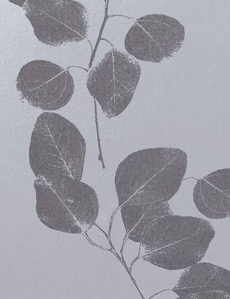 Silver/GreyLeaf wallpaper by Jocelyn Warner - Silver/Grey JWP-211