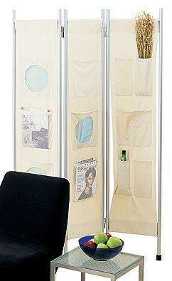 Room Screen - Canvas with Pockets by Adesso, Room Dividers