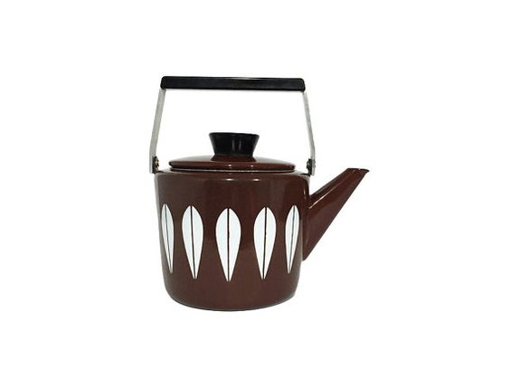 Ultra Rare Brown Cathrineholm Enamel Lotus Tea by ChapsAndRascal