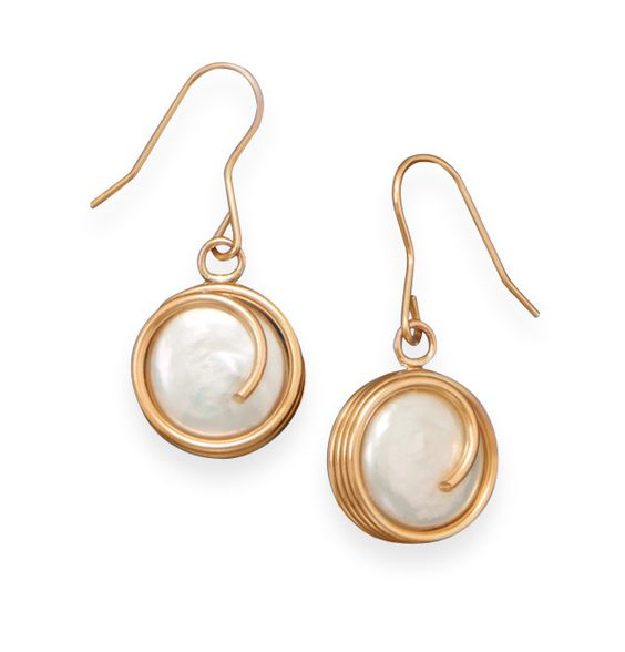 12/20 Gold Filled Cultured Freshwater Pearl Earrings