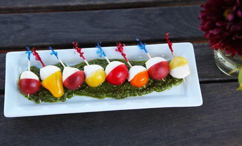 Love this idea! Tomato caprese bite appetizers