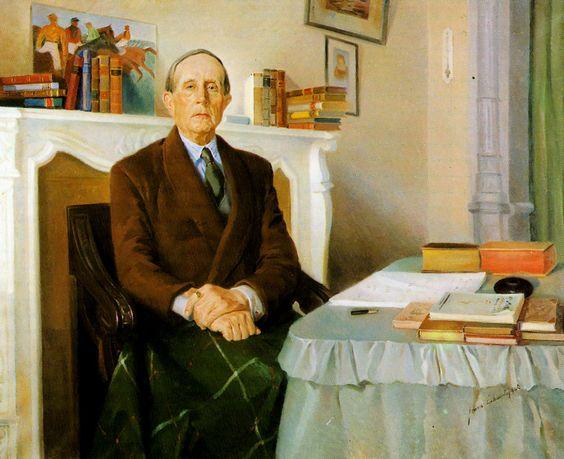 Azorín por Genaro Lahuerta (Valencia, 1919 - 1976):