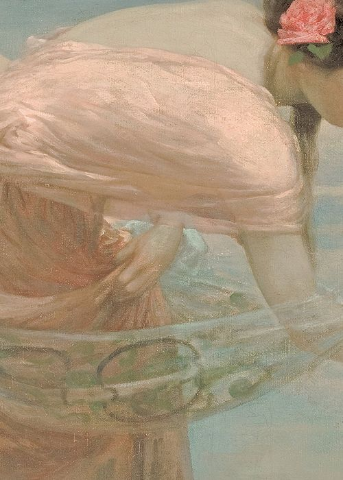 A Summer Morning by Rubert Bunny, 1897 (detail) - Brown Paper Packages Tied Up With String This is me.....back in time....: