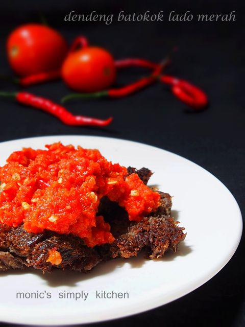 Dendeng Batokok Sambal Lado Merah Dendeng Resep Makanan Resep Ayam