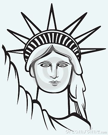 Statue of liberty, Statue of and Liberty on Pinterest Statue Of Liberty Drawing Face
