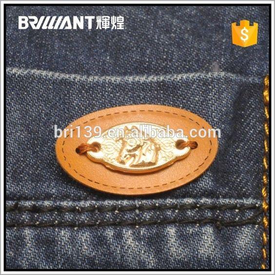 Em estoque roupas falso etiqueta de couro com Logo Metal-imagem-Etiquetas de tecido para roupas-ID do produto:60315813019-portuguese.alibaba.com