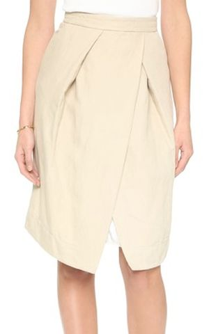 beautiful pleated linen blend skirt