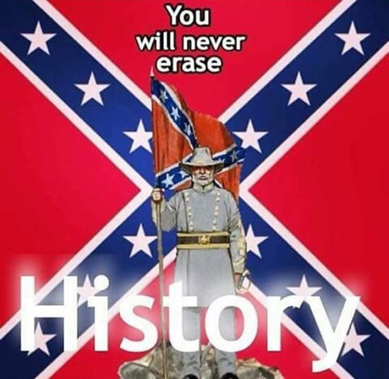 It's history and heritage people...if you make this about hate, you're more than stupid.