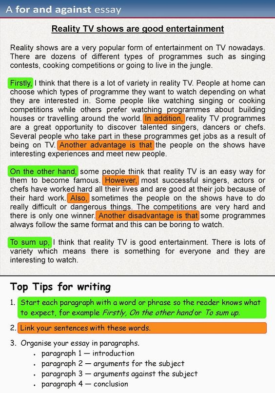 Here are examples of writing essays for you to compare and distinguish: - an opinion essay, where you give your own opinion on...