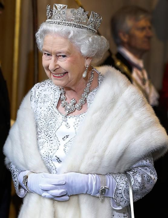 She Adds Bling Sure, she has a serious advantage over us—with that royal jewel collection—but the queen, like any girl, really loves her diamonds. She wears them all the time. It makes her sparkle just a little bit more than others.    THIS IS BEAUTIFUL
