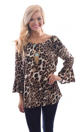 Jersey Girl Leopard Tunic. Belle Boutique