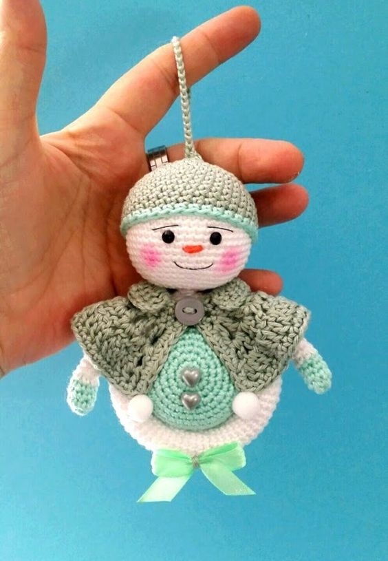 schnee ball mann h keln crocheted dolls pinterest. Black Bedroom Furniture Sets. Home Design Ideas