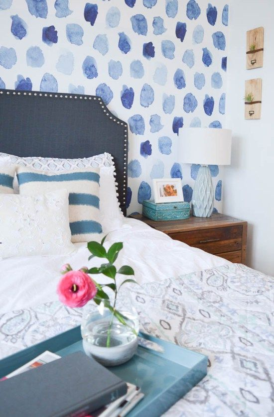 Outside The Lines In 2021 Baby Blue Bedrooms Blue Wallpaper Bedroom Girls Blue Bedroom Blue and white wallpaper bedroom