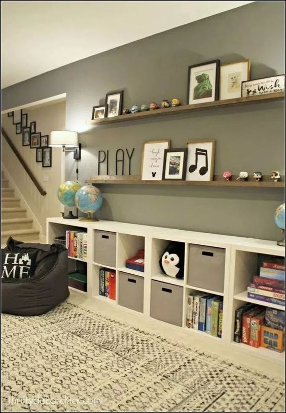 20 Creative Organization Ideas For Kids Playroom Home Decor Basement Decor Decor