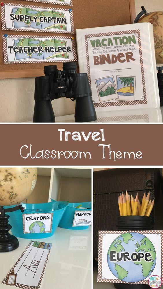 Classroom Decor Travel ~ Travel theme editable classroom organization and decor