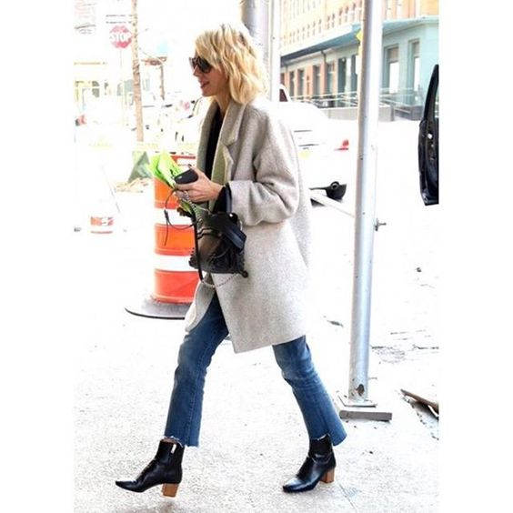 @naomiwatts spotted  in NYC in The Insider Crop Step Fray in Not Rough Enough