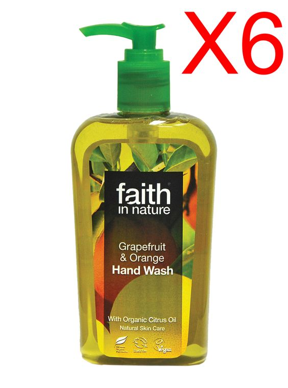Wholesale Faith in Nature Grapefruit & Orange Hand Wash 6 x 300ml