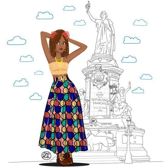 #Paris #Africa #Blackbeauty #drawing #artwork #MadLili #Beyoncé #Diva