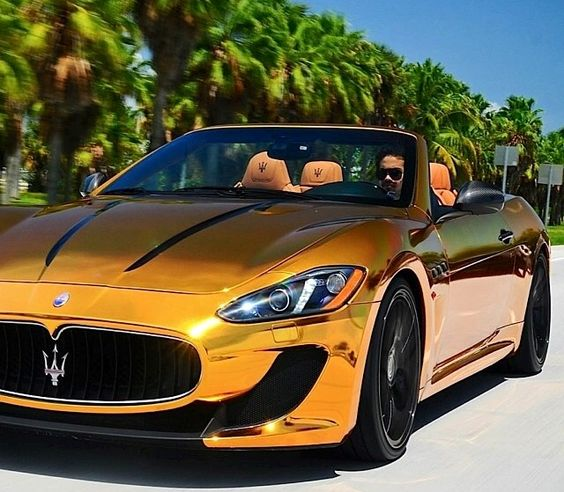 maserati gt cabrio in gold foil automotive eye candy pinterest cars copper and my life. Black Bedroom Furniture Sets. Home Design Ideas