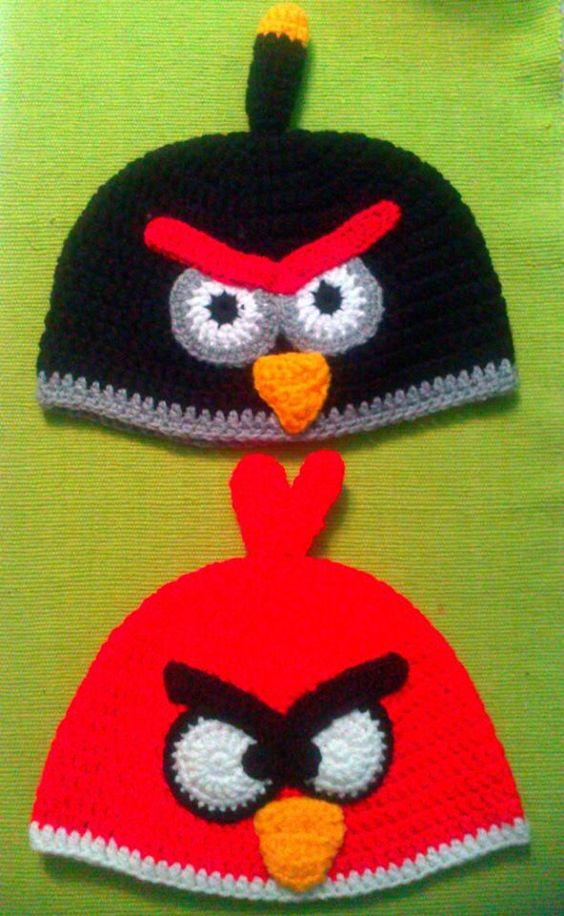 Gorros Angry Bird infantil | ANGRY BIRDS DIVERSOS (TEJIDOS ...