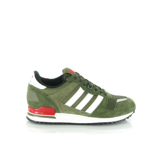 De Adidas ZX 700 sneaker groen. De binnenvoering is gemaakt van textiel en  heeft een