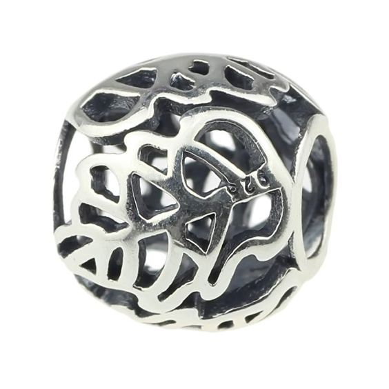 Beads Hunter 925 Sterling Silver Charm Lattice Leaf Fit Pandora Biagi Troll Chamilia Cable Bracelet Snake Chain