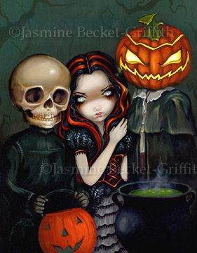 """Out Trick-or-Treating""  by Jasmine Becket-Griffith"