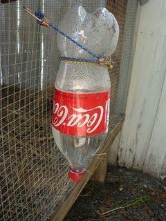 Diy Chicken Waterer Reusing Old Plastic Bottles Garden