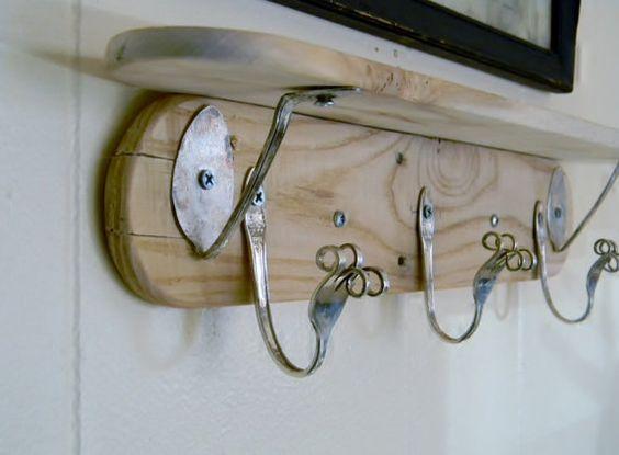 hooks spoon hooks and more funky art coat hooks forks spoons hooks