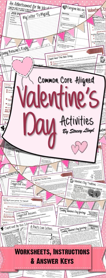 valentines activities and middle school ela on pinterest. Black Bedroom Furniture Sets. Home Design Ideas