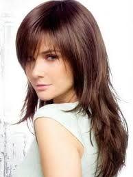 coiffure degrade long avec frange
