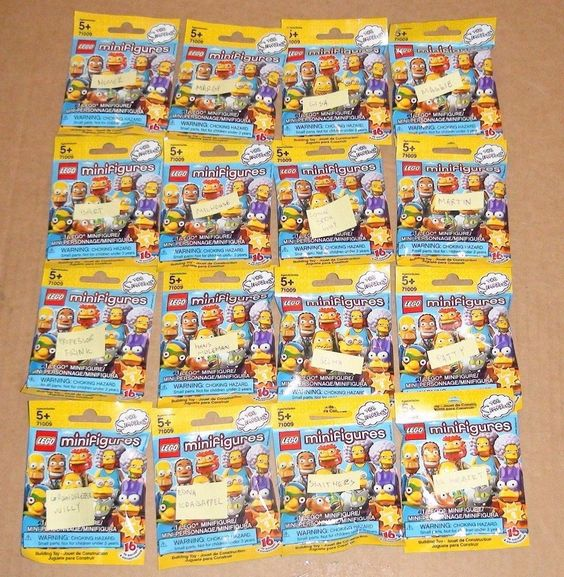 LEGO The Simpsons Series 2 Collectible Minifigures Complete 16 sealed 71009 CMF #LEGO