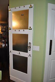 Antique door into a Message Center!!