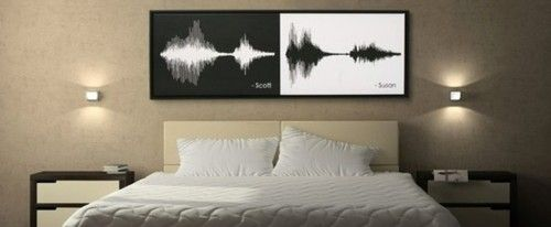 "These are the acoustic waves of a couple saying ""I do."" I'm pretty sure I  just died from the awesomeness of this."