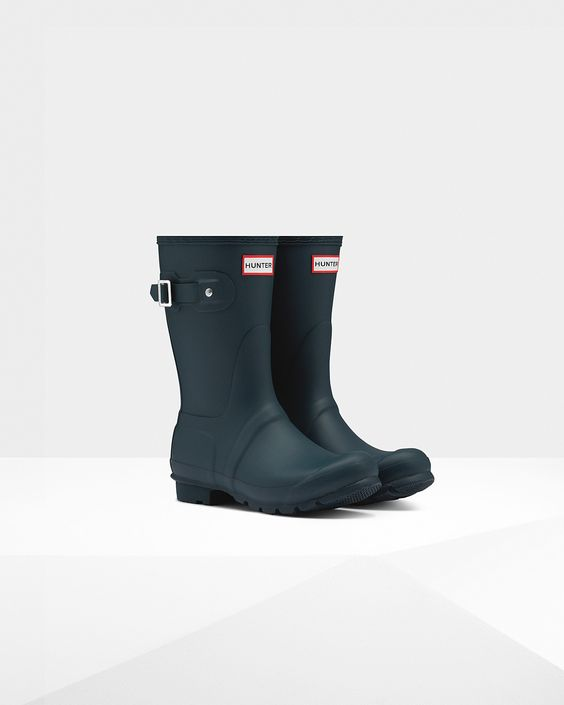 Womens Green Short Rain Boots | Official US Hunter Boots Store