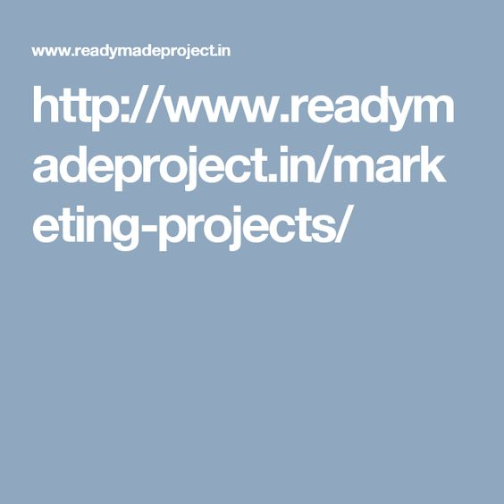 http://www.readymadeproject.in/marketing-projects/ | Readymade ...