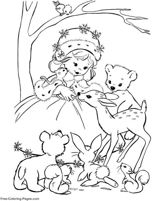 Princess Coloring Pages 20 Digital Images Pinterest Winter Princess Coloring Pages
