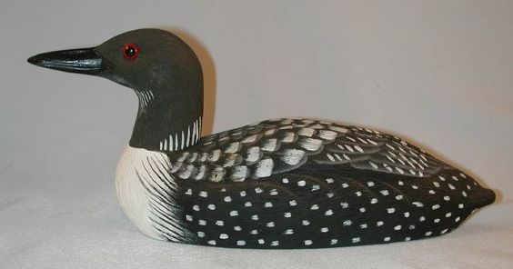 1985 American Wildlife Collection Common Loon Decoy, After a carving by Joe Revello Painted by B Hayes American Wildlife Collection from Craft-Tex Inc.