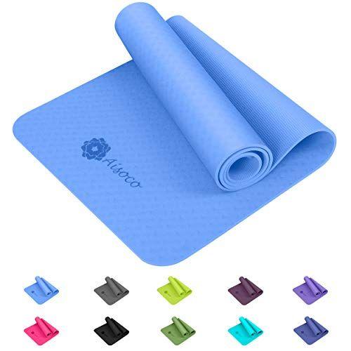 Aisoco Premium Tpe Tapis De Yoga Nouvelle Generation Matiere Tpe Poids Leger Antiderapant Respectueux De L Environnementse Tapis Yoga Accessoires De Yoga Etui