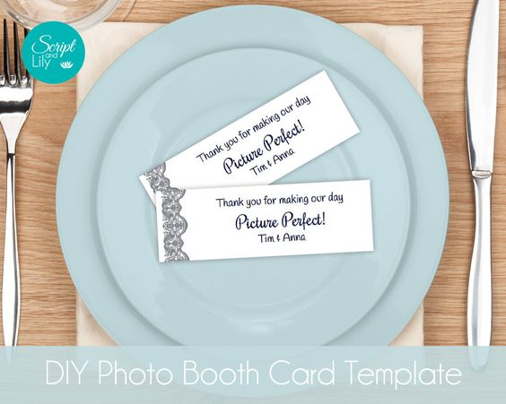 Photo Booth Card Template : INSTANT DOWNLOAD : EASY to Edit and Print ...