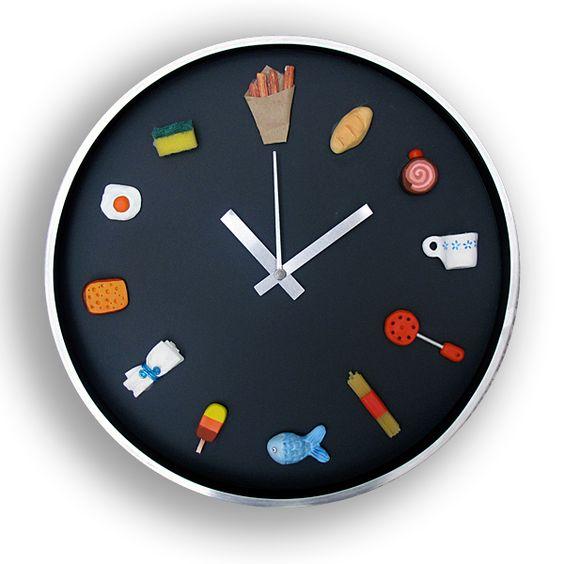 Reloj de cocina tiempo y espacio pinterest humor - Relojes para cocina ...