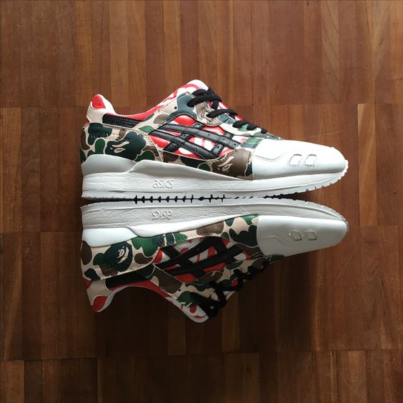 Asics Gel Lyte III Custom - Supreme NYC x Bape is a limited and exclusive Hype…