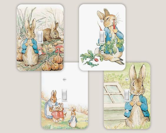 Peter Rabbit Light Switch Cover Plate Single By