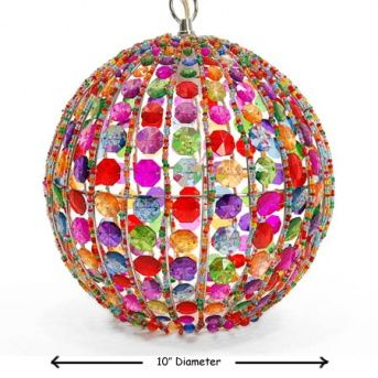Orb Pendant Light - this would cast such a pretty glow
