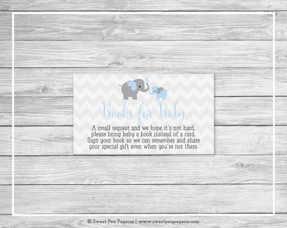 El libro de la ducha del bebé elefante en vez de tarjeta Introduzca - libros de…