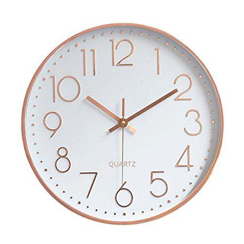 Foxtop Modern Large Decorative Silent Non Ticking Wall Https Www Amazon Com Dp B06y6kjkr9 Ref Cm Sw Gold Wall Clock Wall Clock Modern Wall Clock Silent