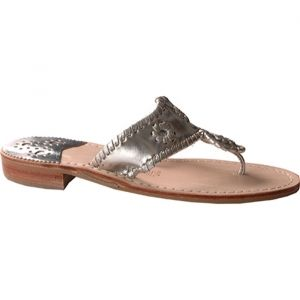 Womens Jack Rogers Navajo Stacked Heels Silver - ONLY $109.95.