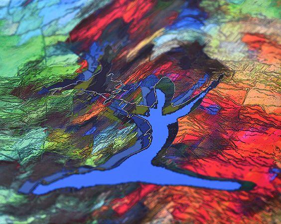 L'Albatros bleu, tech mieszana na płótnie 80x100cm, 2016